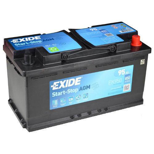 Exide EK950 Stop Start 12V 95AH 850 CCA AGM VRLA Battery LAND ROVER GX7310655BB