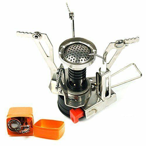 Portable Outdoor Picnic Gas Burner pliable Camping Mini Steel réchaud CASE NEW