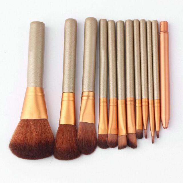 Pro 12pcs Makeup Cosmetic Brushes Set Powder Foundation Eyeshadow Lip Brush LCY