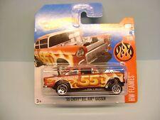 Diecast Hot Wheels HW Flames '55 Chevy Bel Air Gasser on Blister