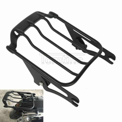 Black Detachable Air Wing 2-Up Luggage Rack For Harley Electra Road Glide 09-19