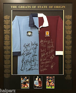 Blazed-In-Glory-State-Of-Origin-Split-Legends-NRL-Signed-and-Framed-Jersey