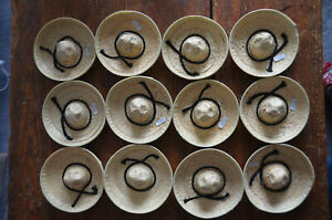Lot-of-12-Doll-Sized-STRAW-HAT-SOMBRERO-Made-in-Mexico-BOTTLE-TOPPER-Cinco-Mayo