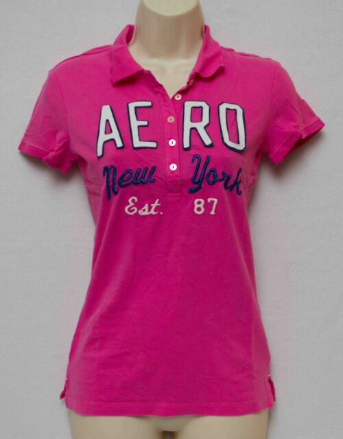 aeropostale Pink Short Sleeve Graphic Polo New w/Tags