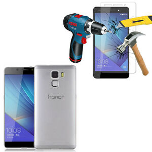 Housse-Etui-Coque-Gel-UltraSlim-pour-Huawei-Honor-7-Dual-Film-Verre-Trempe