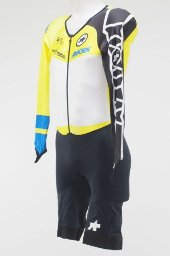 New Assos Tour of California LS Men/'s Skinsuit Yellow Overall Leader Size Small