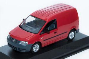 VW-Volkswagen-Caddy-Van-en-Rojo-concesionario-oficial-Modelo-1-43-Escala