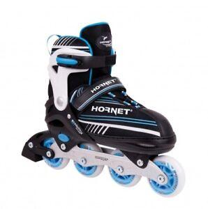 Hudora-Patines-en-Linea-Infantiles-Hornet-Aluminio-Azul-Ajustable