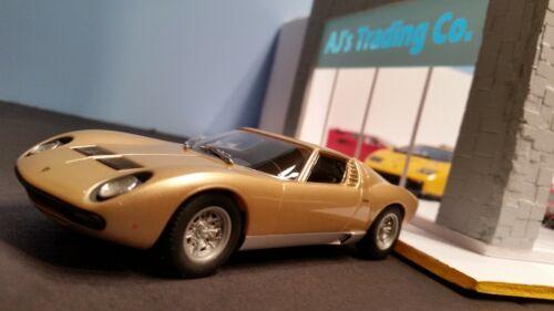 AutoArt SLOT Car 1:32 Lamborghini MIURA Gold Lighting Lamps NEW 13112