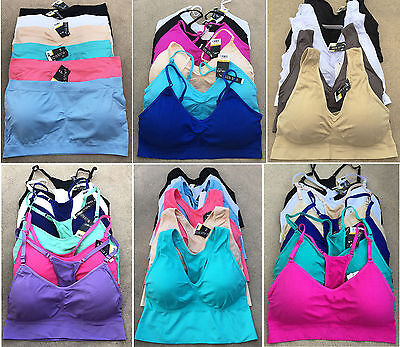 Shorts Motivated Pack Gift Lot Seamless Gym Crop Top Spaghetti Strap Work Out Sport Bra L/xl/2xl