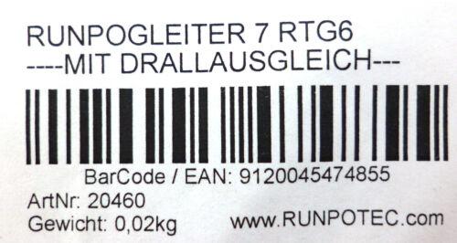 Nr.20460 Runpotec Runpogleiter mit Frontgewinde RTG 6 mm