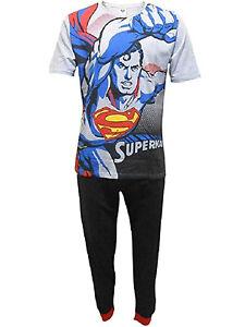 Homme-Superman-Pyjama-ensemble-t-shirt-Lounge-Pantalon-Pantalon-Pyjama-Cadeau-Nightwear-Cadeau