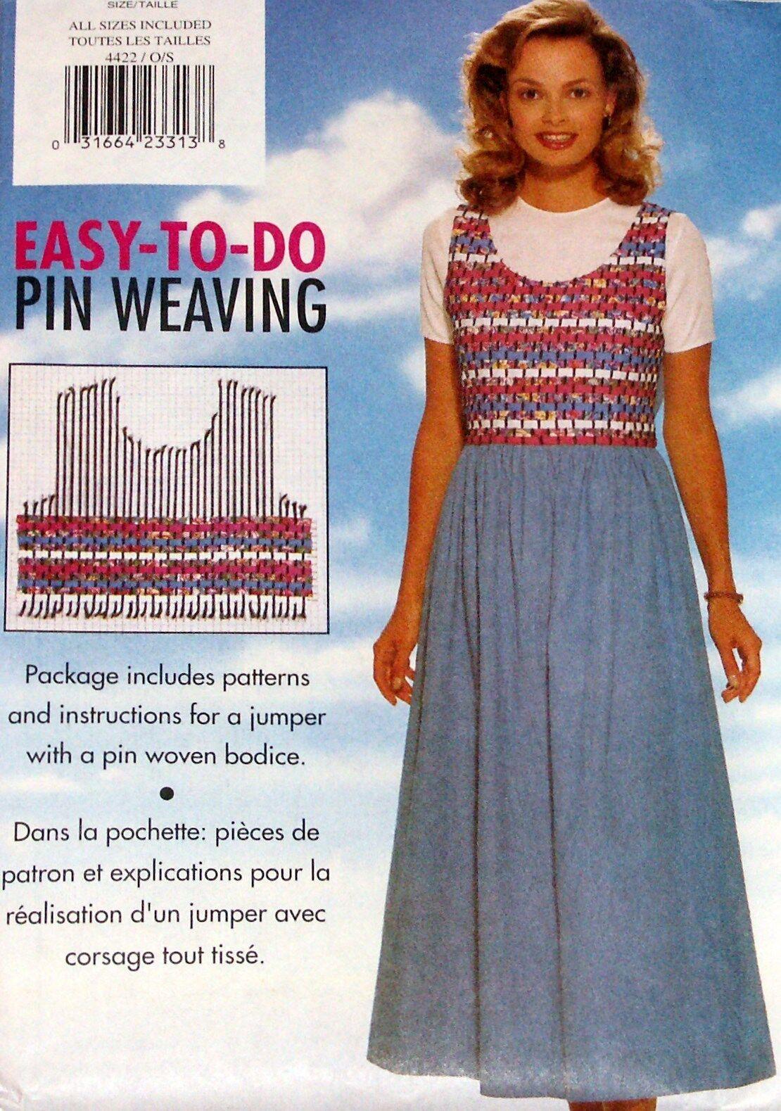 4422 Vintage UNCUT Misses Butterick Sewing Pattern Pin Weaving Jumper Easy OOP