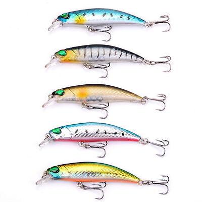Crankbait Fishing Lure Minnow Wobbler Artificial Bait For Bass Tackle 5pcs//lot