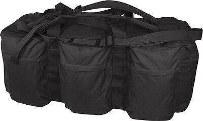 US Army Style Kit Bag Duffle Shoulder Bag Ruck Sack Stealth Black NEW
