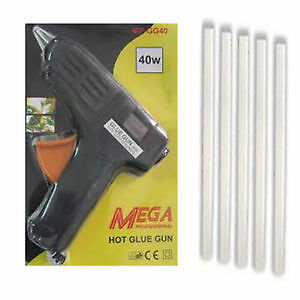 Hot Melt Glue Gun 40 W + 5  Glue Sticks Free