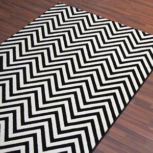 Black And White Chevron Rug Ebay