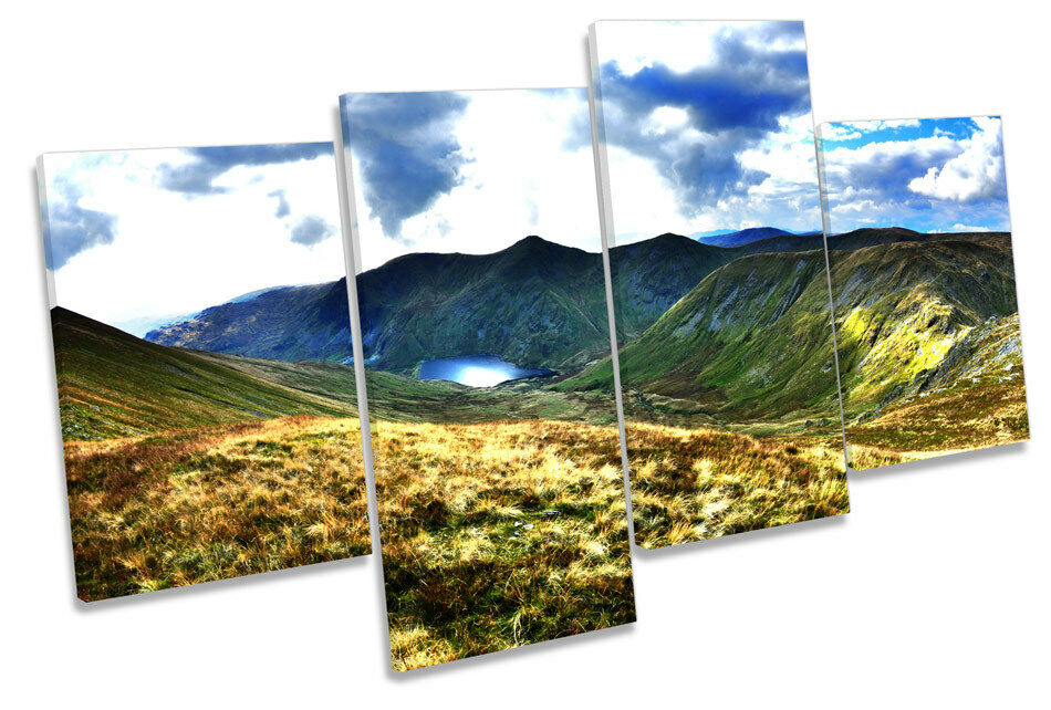 Kentmere Lake District Landscape MULTI CANVAS WALL ART Boxed Framed