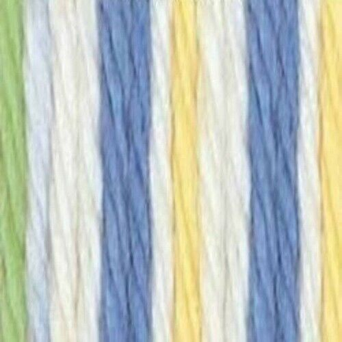 Lily Sugar/' n Cream 2 oz Ombre COOL BREEZE Knit Crochet Cotton Yarn