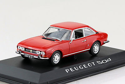 Peugeot 504 Coupe 1969 rot 1:43 Norev Modellauto 475416