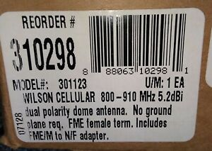 New-Sealed-Box-Wilson-Cellular-301123-Dual-Band-Dome-Antenna-301-427