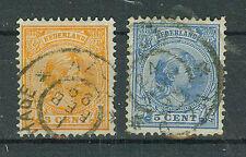 Niederlande Briefmarken 1894 Freimarken Mi.Nr.34+35b