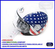 Casco Bandiera Americana Usa Jet Taglia XL per Scooter Moto Quad Vespa Omologato