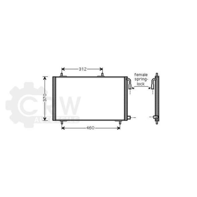 Condensador Aire Acondicionado Peugeot 206cc 2D Hatchback 2A/C Sw 2E / k T3E