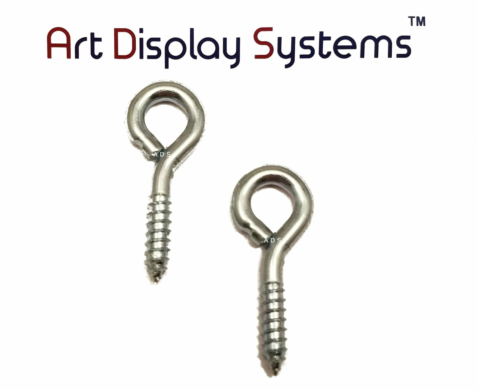 100 Pack by ART DISPLAY SYSTEMS ADS 216-1//2 BP Screw Eye