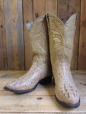 vtg ALLIGATOR SKIN leather WESTERN cowboy BOOTS size 7 BIKER flashy ROCKSTAR