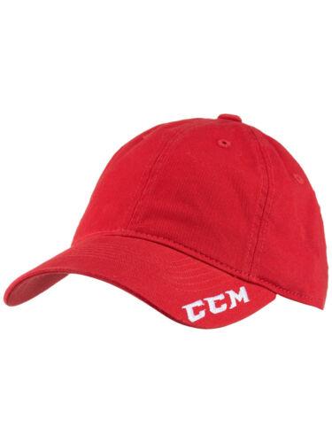 CCM Team Slouch Hat Adjustable Cap Senior Adult Hockey Black Blue Red C6443