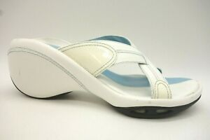 Cole-Haan-Air-G-Series-Blue-White-Leather-Slide-Heel-Sandals-Shoes-Women-039-s-7-B