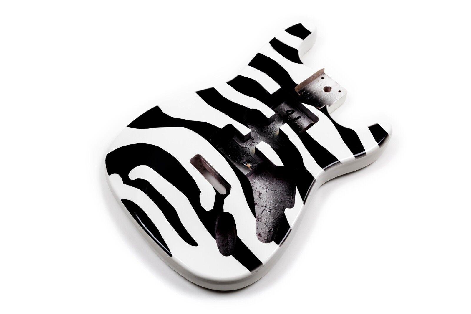 Körper Zebra Gitarre Stratocaster Linden - Zebra Lindenholz electric guitar body