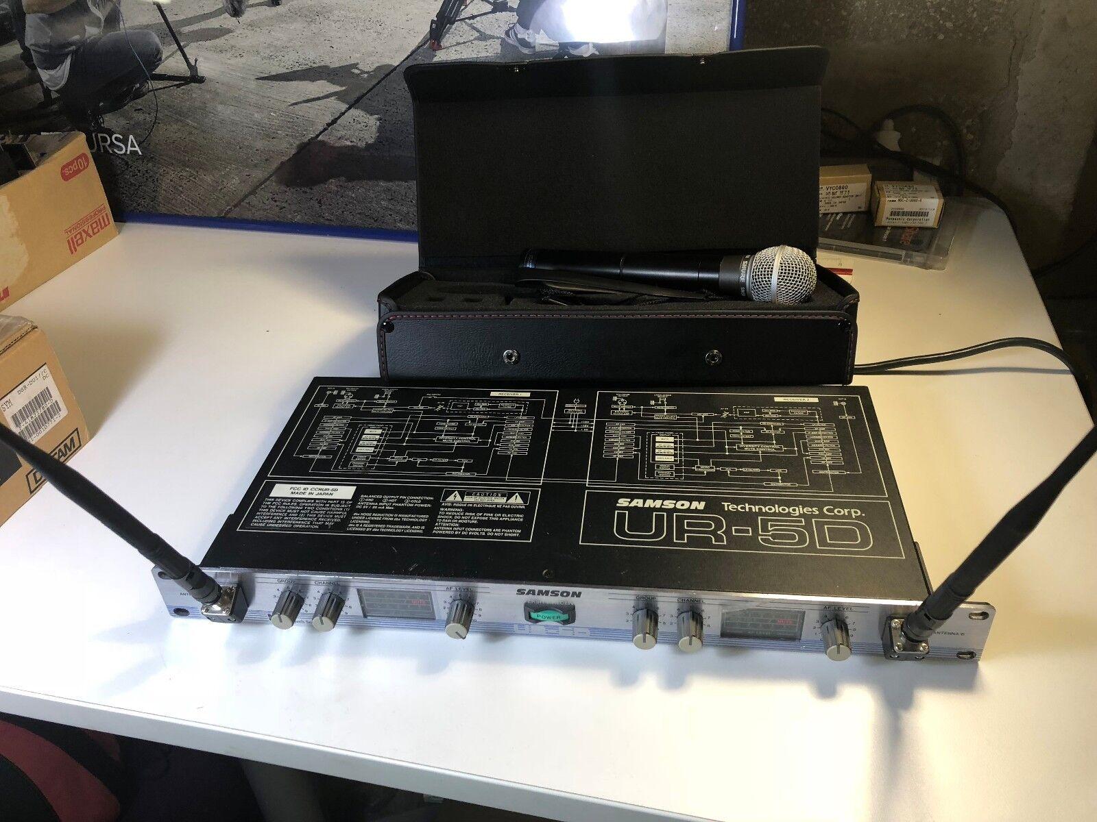 Samson UR-5D Dual Uf Synth Serien & UH-5 + Shure SM58