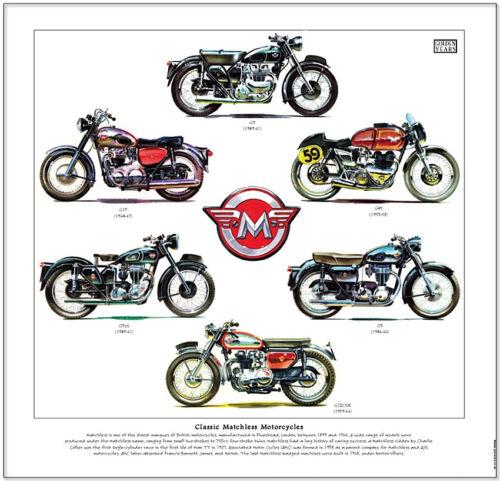 FINE ART PRINT G9 G45 G3 G12CSR G3LS G15 Badge CLASSIC MATCHLESS MOTORCYCLES