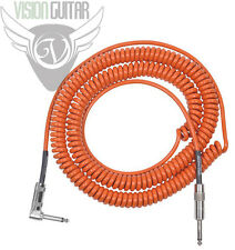 NEW! Lava Cable ORANGE RETRO COIL - 20' Instrument Cord - R/A to Straight Plugs