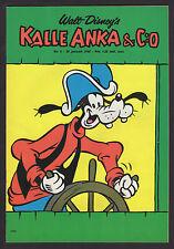 1968 SWEDISH VINTAGE KALLE ANKA & C:O DONALD DUCK COMIC #4 CAPTAIN GOOFY COVER