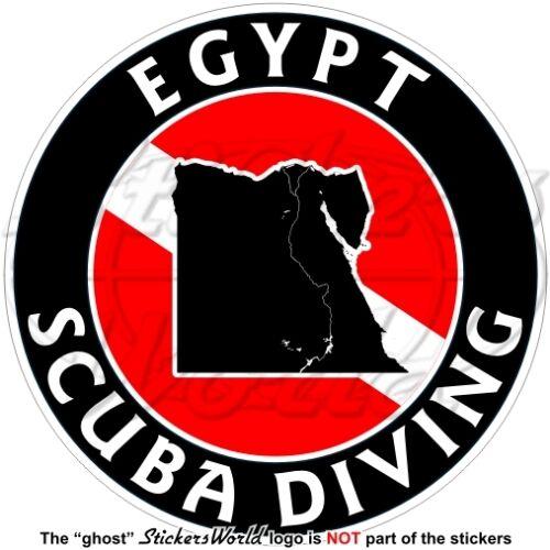 """EGYPT SCUBA DIVING Flag-Egyptian Map Shape 100mm Circular Sticker Decal 4/"""""""