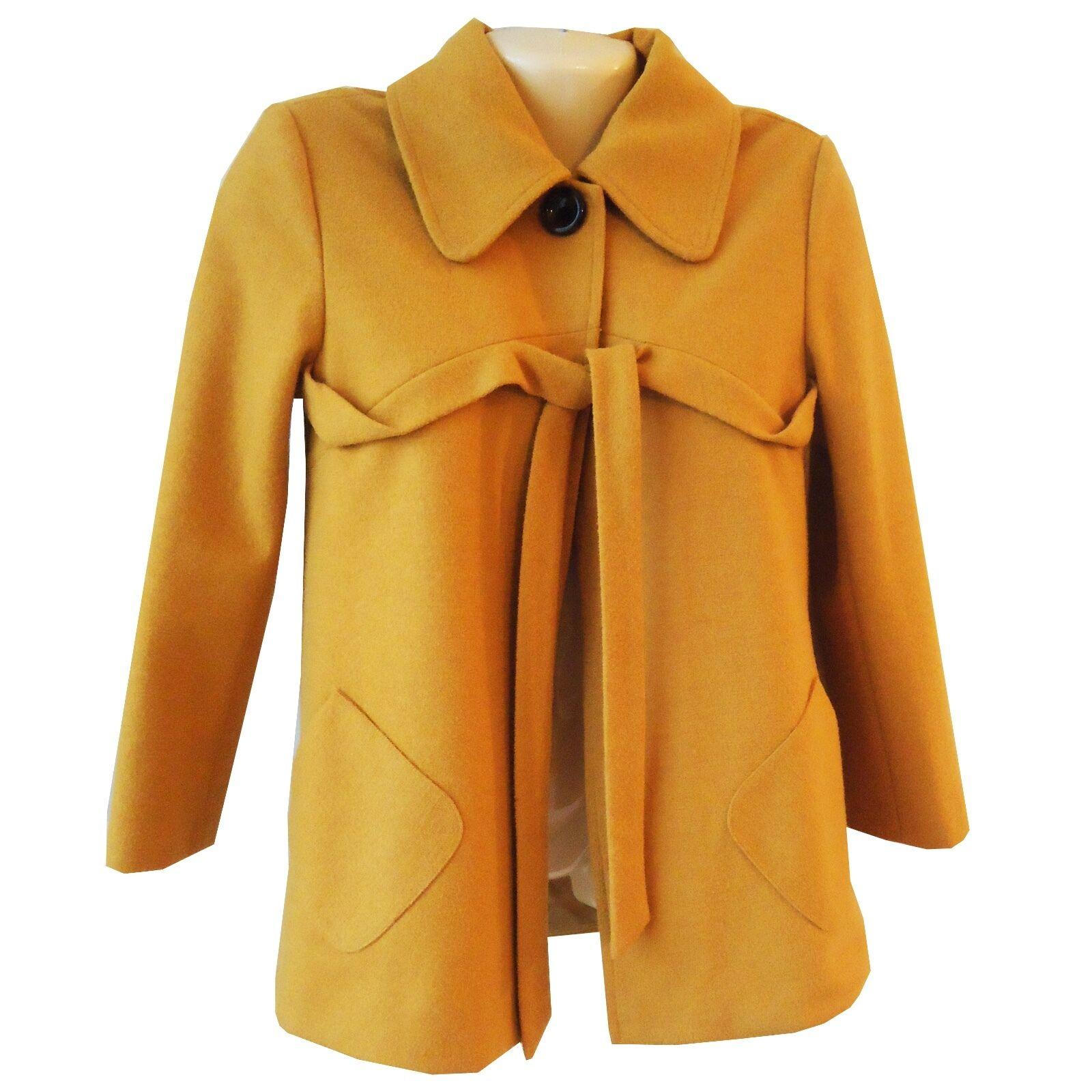 Chloe Mujer Chaqueta de abrigo forrado lana talla EU 34  nos 4 Mostaza Amarillo oro Corbata  mejor oferta