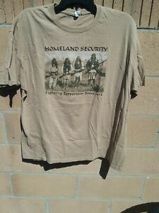 Homeland Security Fighting Terrorism Since 1492 Native Americans T-Shirt