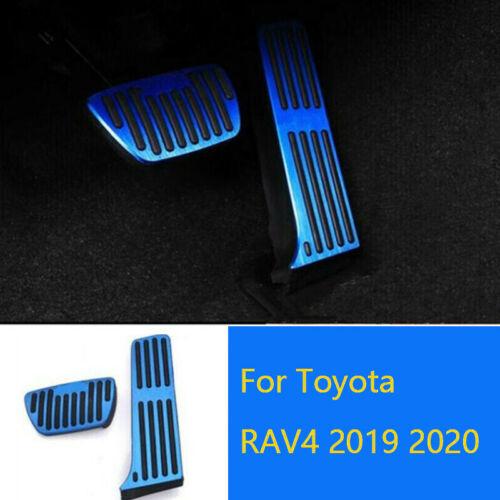 Fußpedalabdeckung Kein Bohren Gas Bremse Blau Für Toyota RAV4 Rongfang 19-20