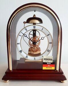 ❤ New Old Stock Hermle Skeleton Hour Strike Mantel Clock Quartz W0987 Movement👌
