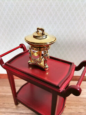 Dollhouse Miniature Ornate Gold Chafing Dish Vintage Style 1:12 Scale