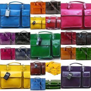 Aktentasche-Laptoptasche-aus-Italien-Lehrertasche-Umhaengetasche-Echt-Leder