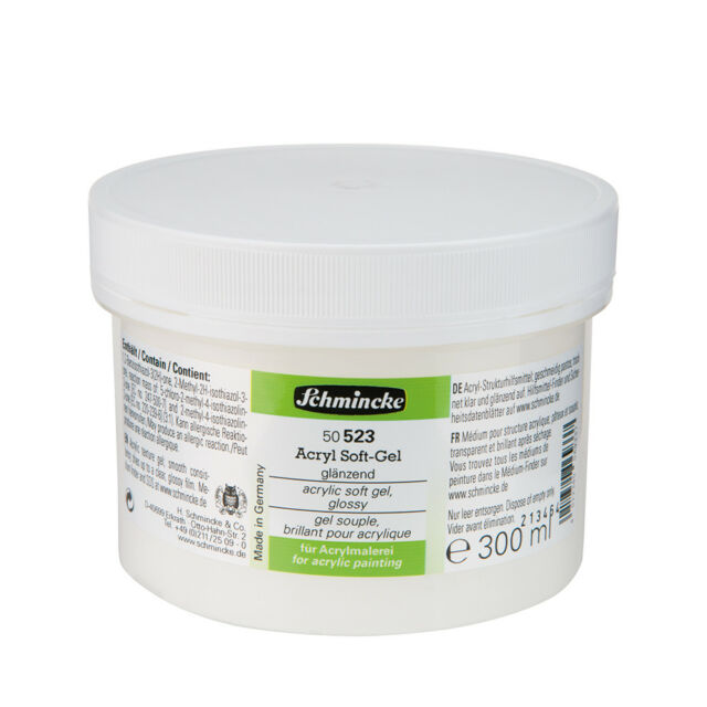 Schmincke Acrylfarbe Acryl Soft-Gel glänzend Hilfsmittel 300 ml Tiegel 50523