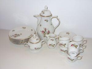 rosenthal porzellan moosrose sanssouci goldrand kaffeeservice ebay