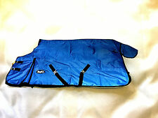 Tough 1 1200D Waterproof Poly Turnout Horse  Blanket in ROYAL BLUE 75