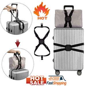 Gepaeck-Kreuz-elastischer-Gurt-Gurt-verstellbarer-Reisekoffer-Guertel-Taschengurt