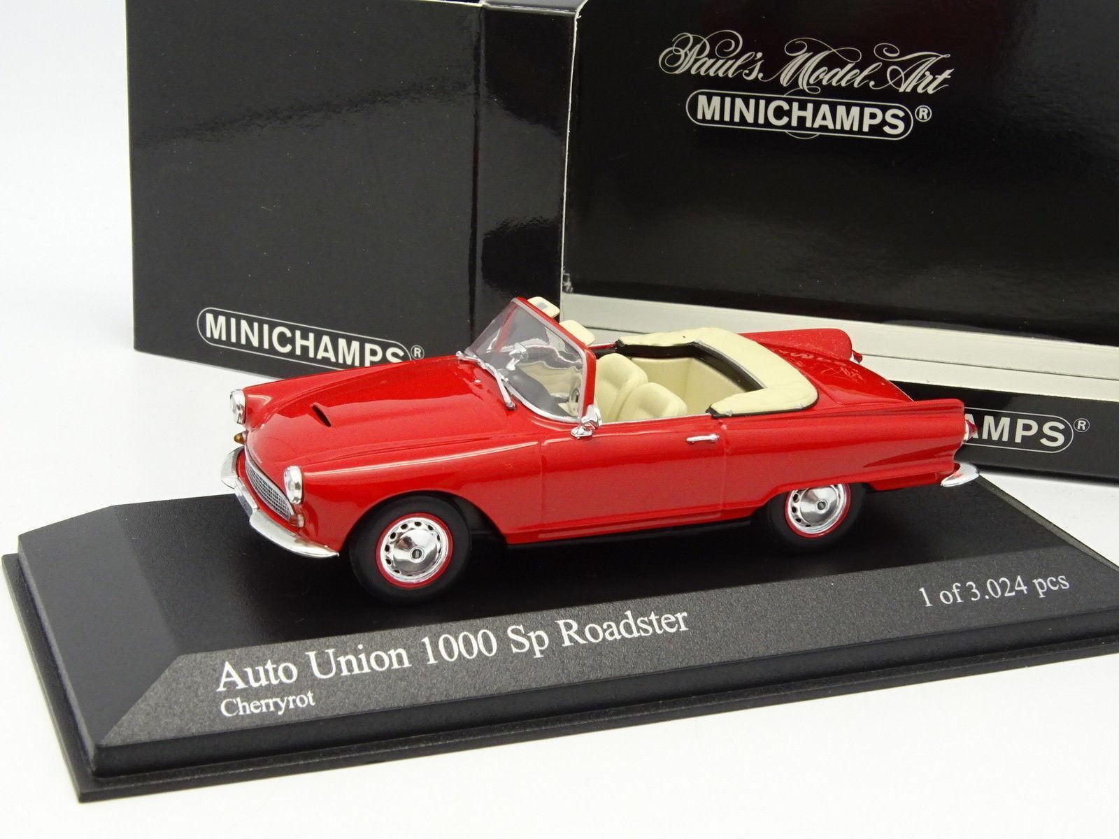Minichamps 1 43 - Auto Union 1000 SP Roadster rosso