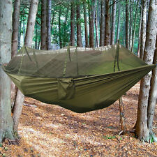 Double Hammock Tree 2 People Person Patio Bed Swing Outdoor with Mosquito Net TB